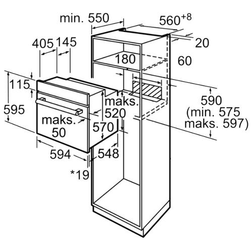 Электрический духовой шкаф Bosch HBF134ES0R