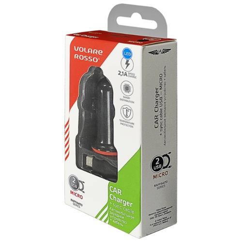 Автомобильная зарядка Volare Rosso RC02 + кабель micro USB