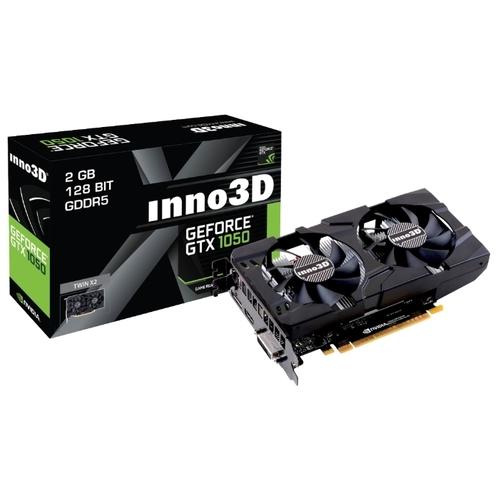 Видеокарта INNO3D GeForce GTX 1050 1354Mhz PCI-E 3.0 2048Mb 7008Mhz 128 bit DVI HDMI HDCP Twin X2