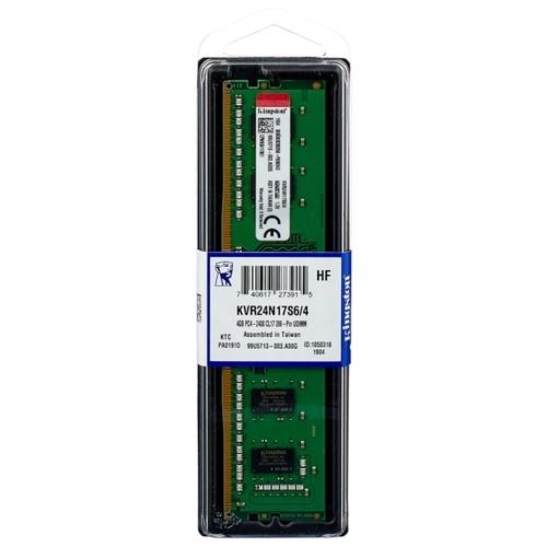 Оперативная память 4 ГБ 1 шт. Kingston KVR24N17S6/4