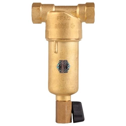 Фильтр механической очистки Atoll FF06-1/2AM муфтовый (ВР/ВР), латунь, со сливом