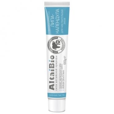 Зубная паста AltaiBio Липа-Календула для чувствительных зубов