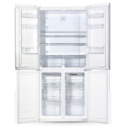 Холодильник Ginzzu NFK-510 White glass