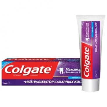 Зубная паста Colgate Максимальная защита от кариеса + Нейтрализатор сахарных кислот, мята