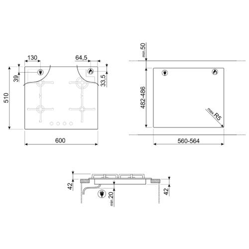 Варочная панель smeg PV164S2
