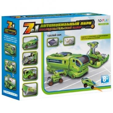 Электромеханический конструктор ND Play На солнечной энергии 265608 Автомобильный Парк 7 В 1