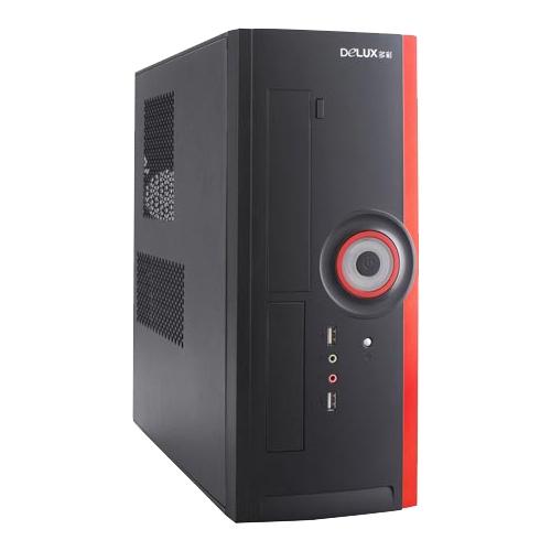 Компьютерный корпус Delux DLC-ML116 400W Black/red