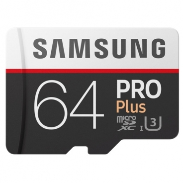 Карта памяти Samsung microSDXC PRO Plus 100MB/s 64GB + SD adapter