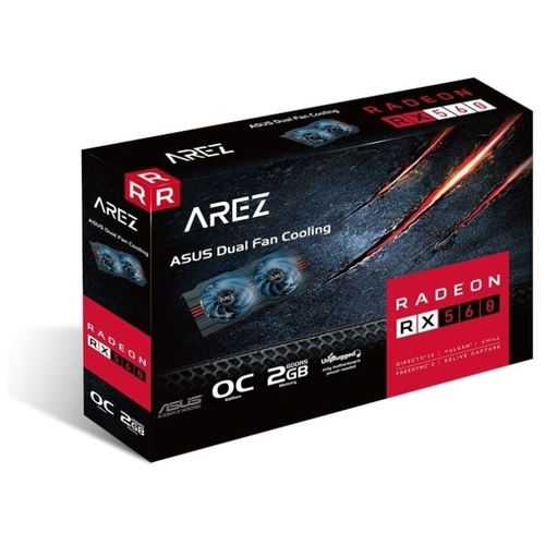 Видеокарта ASUS AREZ Radeon RX 560 1149MHz PCI-E 3.0 2048MB 6000MHz 128 bit DVI HDMI DisplayPort HDCP EVO OC