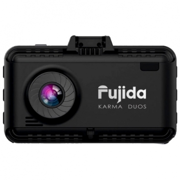 Видеорегистратор с радар-детектором Fujida Karma Duos, 2 камеры, GPS, ГЛОНАСС