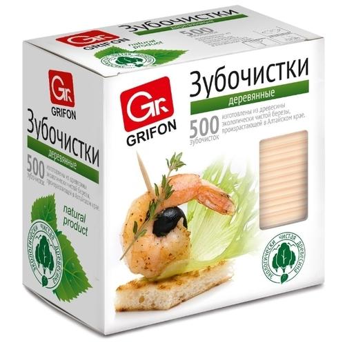 GRIFON Зубочистки из дерева в индивидуальной упаковке
