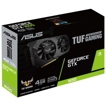 Видеокарта ASUS TUF GeForce GTX 1650 1485MHz PCI-E 3.0 4096MB 8002MHz 128 bit DVI DisplayPort HDMI HDCP GAMING