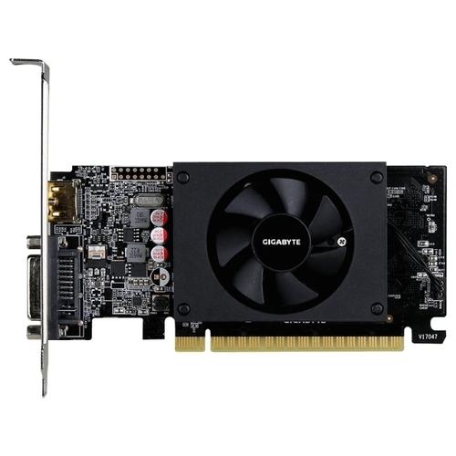 Видеокарта GIGABYTE GeForce GT 710 954Mhz PCI-E 2.0 2048Mb 5010Mhz 64 bit DVI HDMI HDCP
