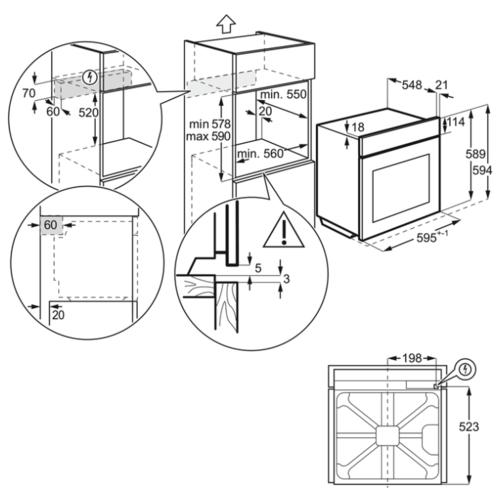 Электрический духовой шкаф Electrolux OED3H50TW