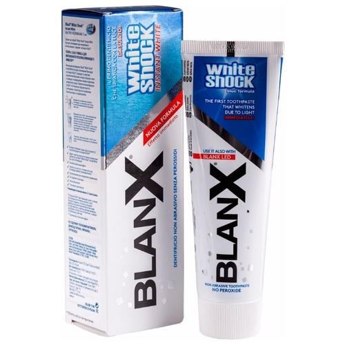 Зубная паста BlanX White Shock Instant White, быстрое отбеливание