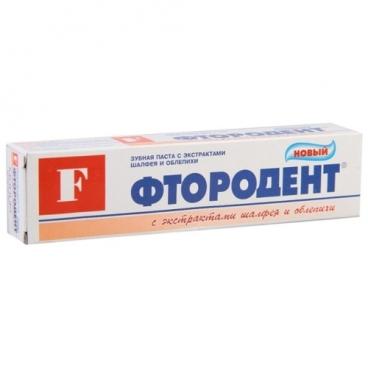 Зубная паста Modum Фтородент Шалфей и облепиха