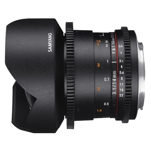 Объектив Samyang 14mm T3.1 ED AS IF UMC VDSLR II Canon M