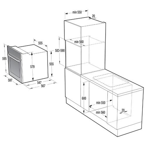 Электрический духовой шкаф Gorenje BO 615E20 BG-M