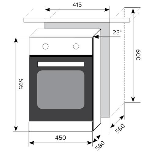 Электрический духовой шкаф LEX EDM 4570 WH