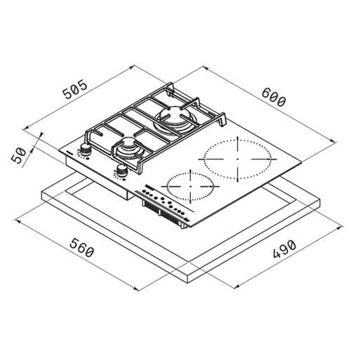 Варочная панель TEKA TWIN IG 620 2G AI AL CI (40213224)