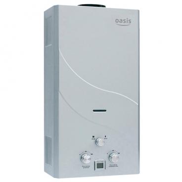 Проточный газовый водонагреватель Oasis 26 кВт сталь