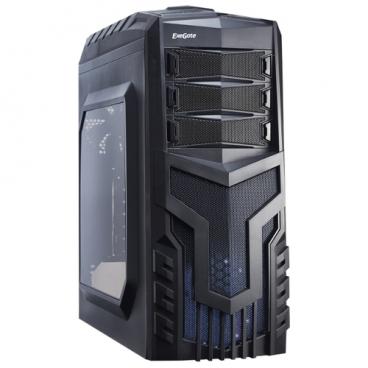 Компьютерный корпус ExeGate EVO-8203N w/o PSU Black
