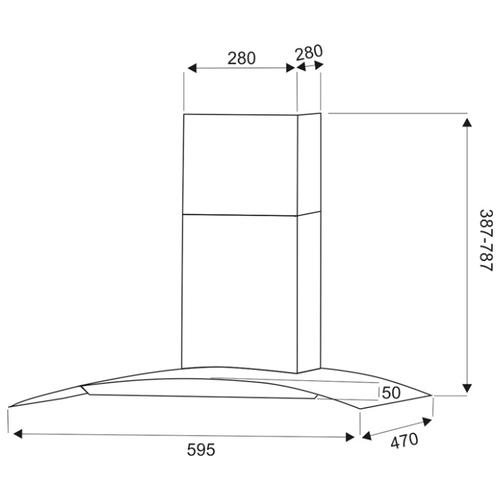 Каминная вытяжка Exiteq EX-1036 sensor inox