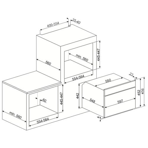 Микроволновая печь встраиваемая smeg SF4101MS