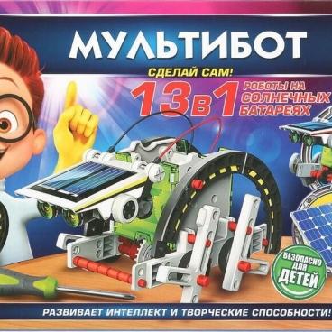 Набор для исследований Играем вместе Мультибот 13-в-1 на солнечных батареях