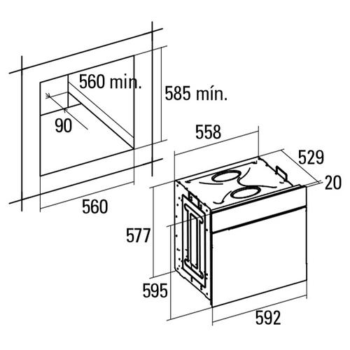 Электрический духовой шкаф CATA UME 7107 X