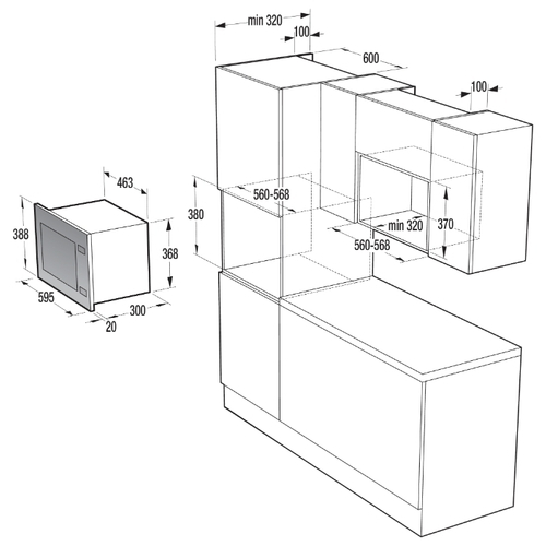 Микроволновая печь встраиваемая Gorenje BM201A4XG