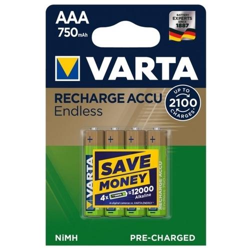 Аккумулятор Ni-Mh 750 мА·ч VARTA Recharge Accu Endless AAA 750