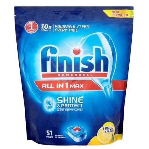 Finish All in 1 таблетки (лимон) для посудомоечной машины