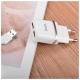 Сетевая зарядка Hoco C12 Smart + Lighting