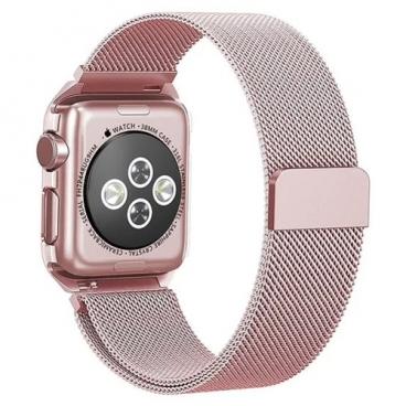 Karmaso Ремешок для Apple Watch 42 мм миланская петля розовый