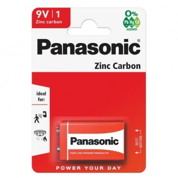 Батарейка Panasonic Zinc Carbon Крона/6F22