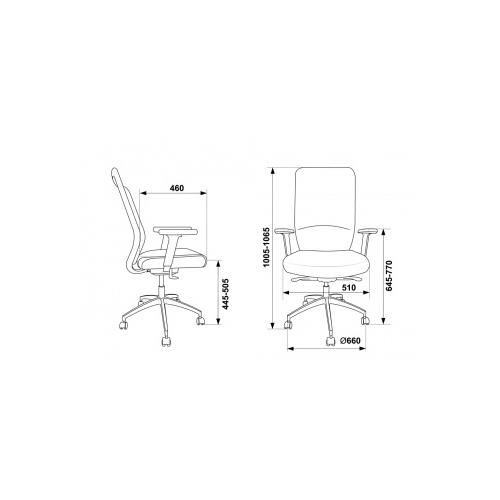 Компьютерное кресло Бюрократ MC-715 офисное