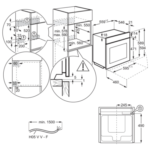 Электрический духовой шкаф Electrolux OKE5C71Z