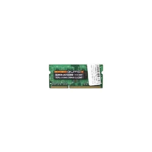 Оперативная память 4 ГБ 1 шт. Qumo DDR3 1333 SO-DIMM 4Gb