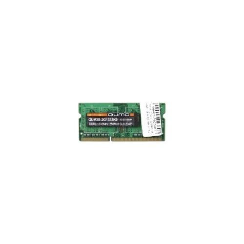 Оперативная память 8 ГБ 1 шт. Qumo DDR3 1333 SO-DIMM 8Gb