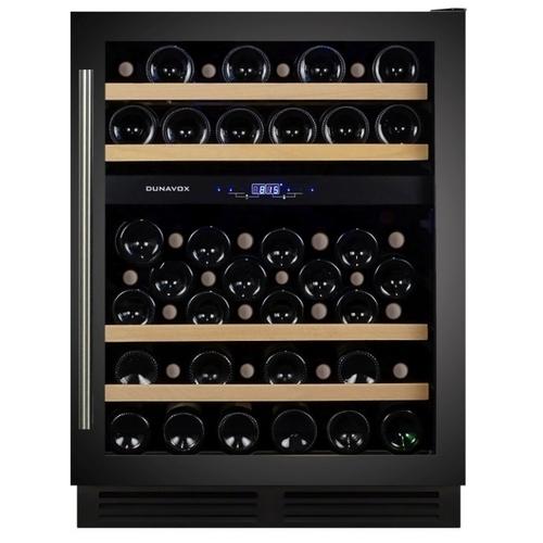 Встраиваемый винный шкаф Dunavox DX-53.130DBK/DP