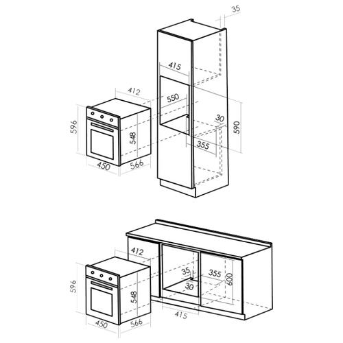 Электрический духовой шкаф MBS DE-453BL