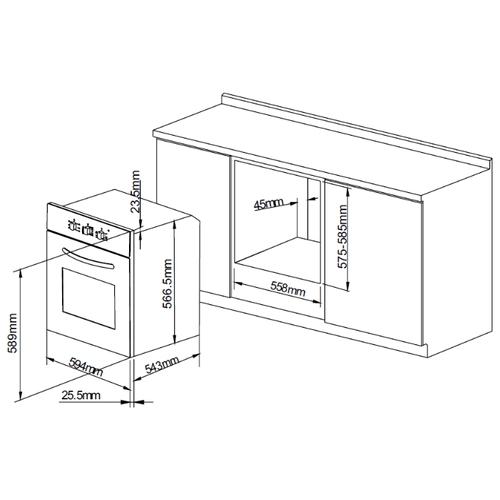 Электрический духовой шкаф PYRAMIDA F 85 EPL IX