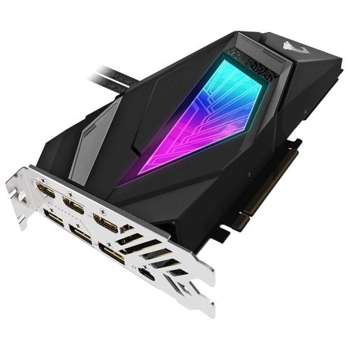 Видеокарта GIGABYTE GeForce RTX 2080 SUPER 1860MHz PCI-E 3.0 8192MB 15500MHz 256 bit 3xHDMI HDCP AORUS WATERFORCE