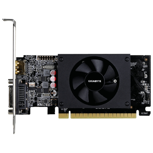 Видеокарта GIGABYTE GeForce GT 710 954Mhz PCI-E 2.0 1024Mb 5010Mhz 64 bit DVI HDMI HDCP Low Profile