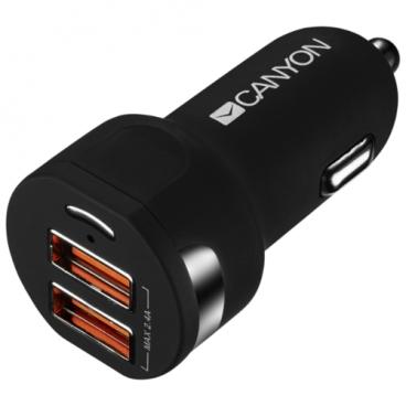 Автомобильная зарядка Canyon CNE-CCA04