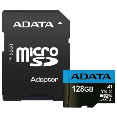 Карта памяти ADATA Premier microSDXC UHS-I U1 V10 A1 Class10 128GB + SD adapter