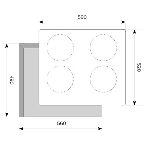 Варочная панель LEX EVI 640-1 IV