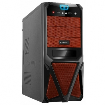 Компьютерный корпус CROWN MICRO CMC-SM161 450W Black/orange
