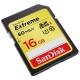 Карта памяти SanDisk Extreme SDHC UHS Class 3 60MB/s 16GB